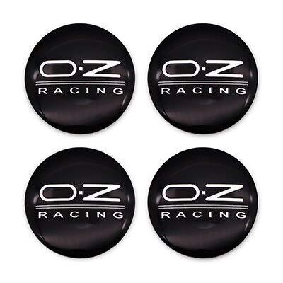 Tapas Para Llantas 4 unids 56mm OZ Racing Coche Centro de ruedas del centro de la cubierta de la tapa de la tapa del emblema automático Pegatina Compatible con el polo Beetle Golf 4 5 6 7 Passat B5 B6