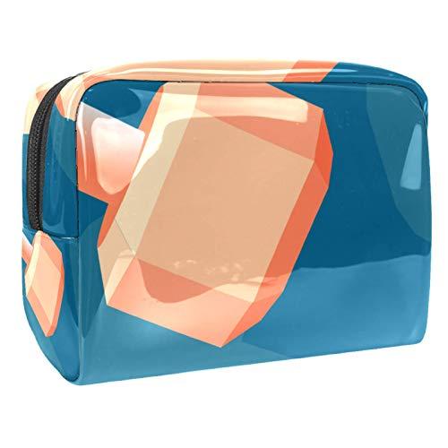 Tragbare Make-up-Tasche mit Reißverschluss, Reise-Kulturbeutel für Frauen, praktische Aufbewahrung, Kosmetiktasche, Hantel