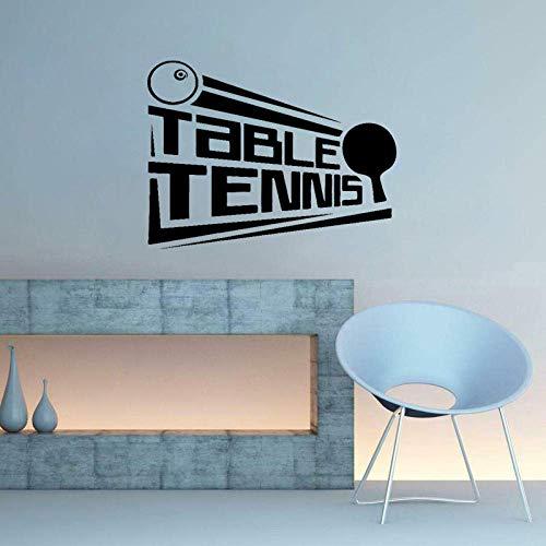 63Cm*47.4Cm Tafel Tennis Poster Sticker Ping Pong Sport Decor PVC Muursticker