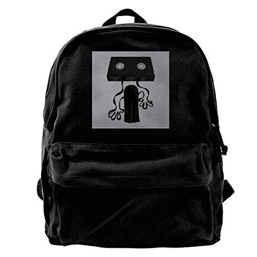 College Bag Ring Video Tape Reel Canvas Backpack Anime Shoulder Bag Birthday Portable Unique Daypack Adult College Bag Print Student Travel Book School Gift DurableT