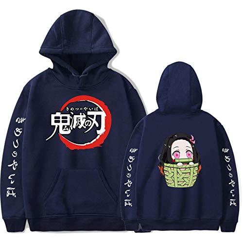 JHDESSLY Anime Demon Slayer Casual Impreso Pullover Sudadera con capucha Hombres / Mujeres Harajuku Tallas Grandes XXS-4XL