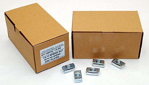 (100) Strut Channel Nuts 1/2-13 No Spring Zinc Plated Unistrut Nut