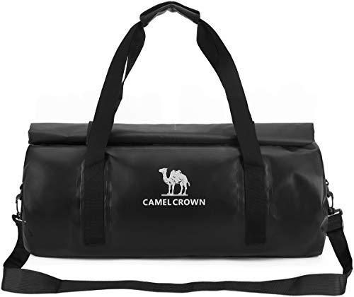 CAMEL CROWN Sport-Tasche, wasserdicht, 30 l, Reisetasche, Wochenendtasche, für Damen und Herren, Schwarz