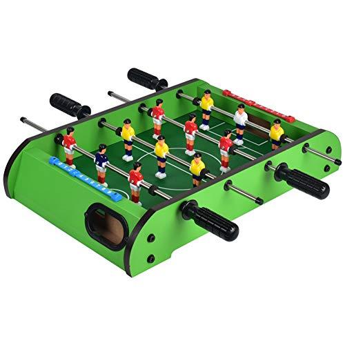 SYCHONG 4-Bar Foosball Maschine, Mini-Tischbillardspiel, Holzkinder Foosball Maschine Vier-Bar Boy, Erwachsene Doppeltischspiele Fußball Spielzeug