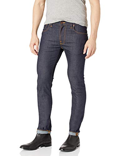 Nudie Jeans Thin Finn, Jeans Unisex Adulto, Blu (Dry Tight Broken), W25/L30