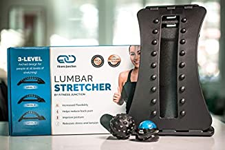 Back Stretcher - Back Pain Relief - Sciatica Pain Relief - Adjustable Lumbar Stretcher - Posture Corrector