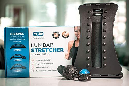 Back Stretcher - Back Pain Relief - Sciatica Pain Relief - Adjustable Lumbar Stretcher - Posture...
