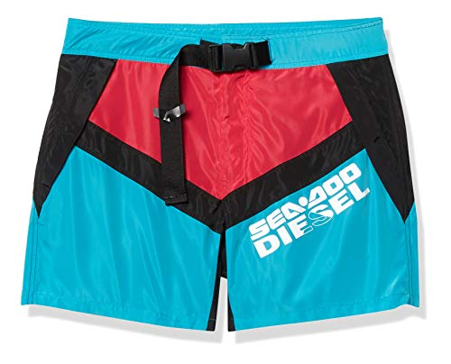 Diesel BMBX-CAYBAYDOO Boxer-Shorts Bañador para Hombre, Azul/Negro/Rosa, L