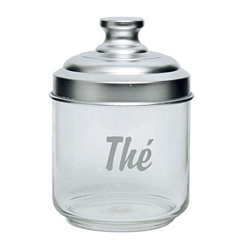 Excelsa Pot à thé en Verre Transparent avec Couvercle en Aluminium