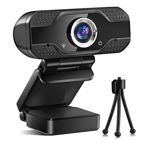 Webcam with Microphone HD 1080P, Alcyoneus Web Camera for Computer PC Laptop Desktop, USB Webcam for Streaming/Video Calling/Recording/Conferencing, Compatible with Windows/Mac OS