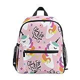Unicorn Kids - Mochilas preescolares para niñas, bolsa de viaje, bolsa de escuela, para niños, color rosa