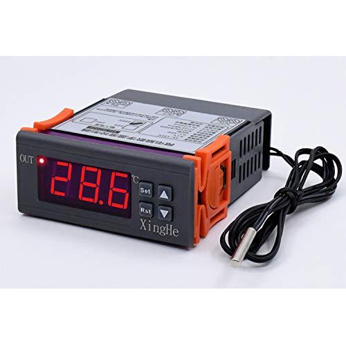 Controlador de temperatura digital 220 V Controlador de temperatura de microordenador inteligente digital -55 ~ 120 Celsius Termostato frío / calor XH-W2020 Termostato de una sola etapa de 24 voltios