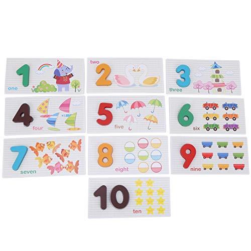 Zahlen-Lernkarte, einzigartiges Design Lebhafte Mathematik-Lernkarten, tragbar für die Früherziehung über 3 Jahre(Digital arithmetic card)
