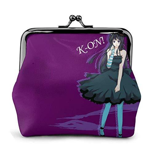 Portamonete in pelle anime K-ON con stampa serratura piccola portamonete pochette per donna ragazze FashionPorta monete in pelle microfibra di alta qualità