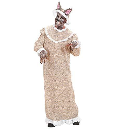 shoperama Bser Wolf - Disfraz de abuela para hombre (2 piezas, talla M)