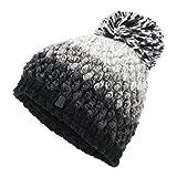 Spyder Berry Damen Strick Bommel Winter Ski Mütze schwarz