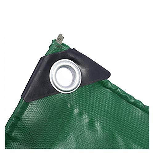 ALGFree Lona Impermeable Exterior, Tela Lluvia Proteccion Solar a Prueba Viento Aislar el Calor al Aire Libre Cámping Tienda Toldo Impermeable, 26 Tallas (Color : Green, Size : 3x8m)