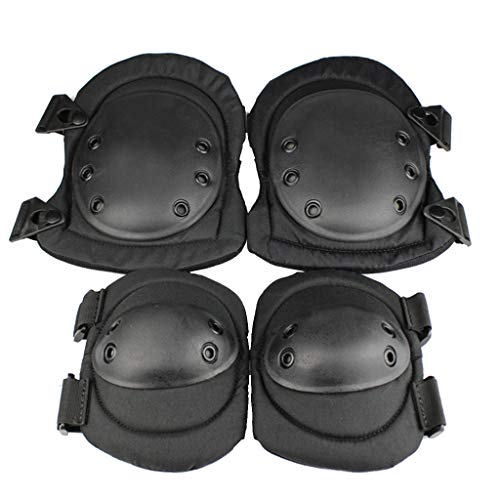 Basde Protective Knee Pads, Military Spec Adjustable Knee Protective Guard Safety Gear Pads Skate Bicycle, Best Knee Brace for Men & Women Biking Football Soccer Tennis Skating Exercise