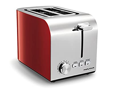 Morphy Richards Equip 2 Slice Toaster 222056 Red Stainless Steel Two Slice Toaster Red Toaster