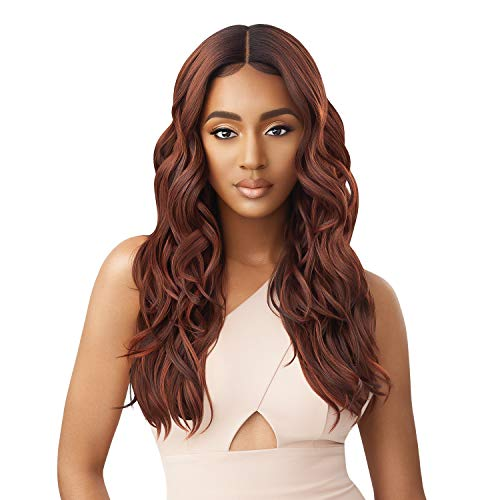 Outre Lace Front Wig Pre Plucked Lace Parting Natural Baby Hairs HD Transparent Lace GEORGETTE (2 Dark Brown)