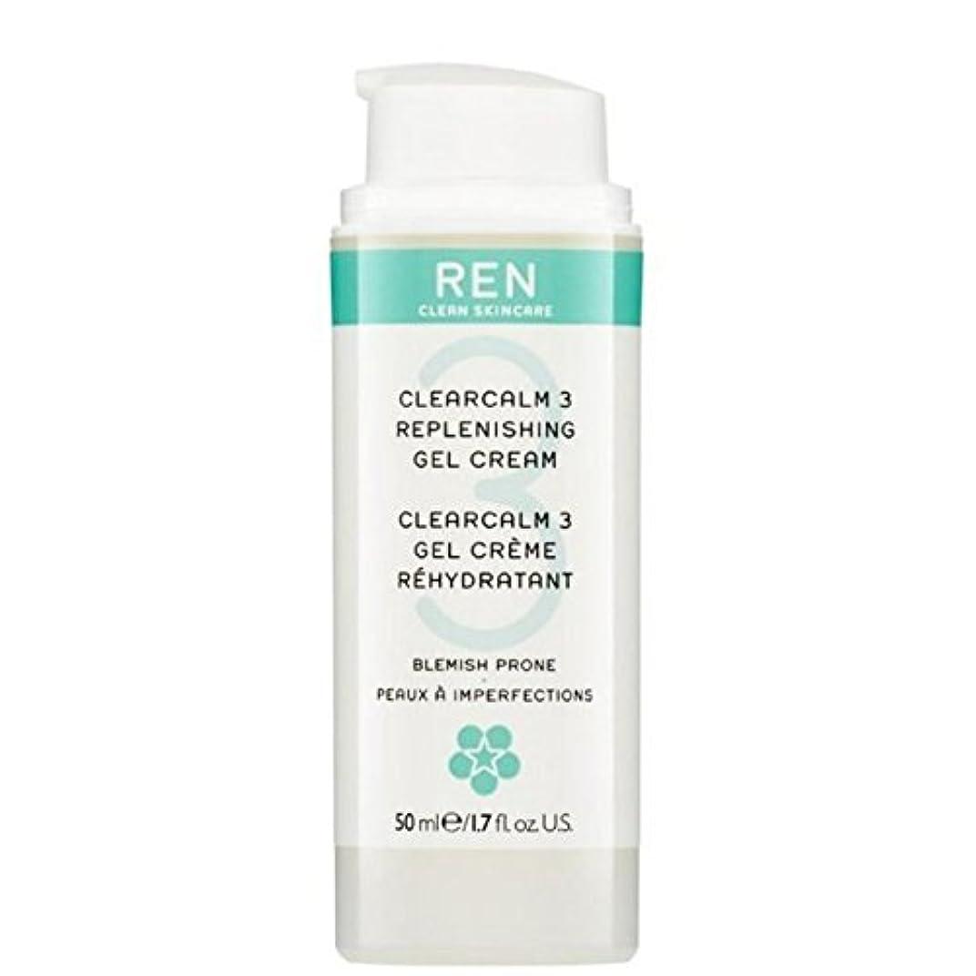 ナイロン崇拝するステッチ3補給ゲルクリーム x4 - REN Clearcalm 3 Replenishing Gel Cream (Pack of 4) [並行輸入品]