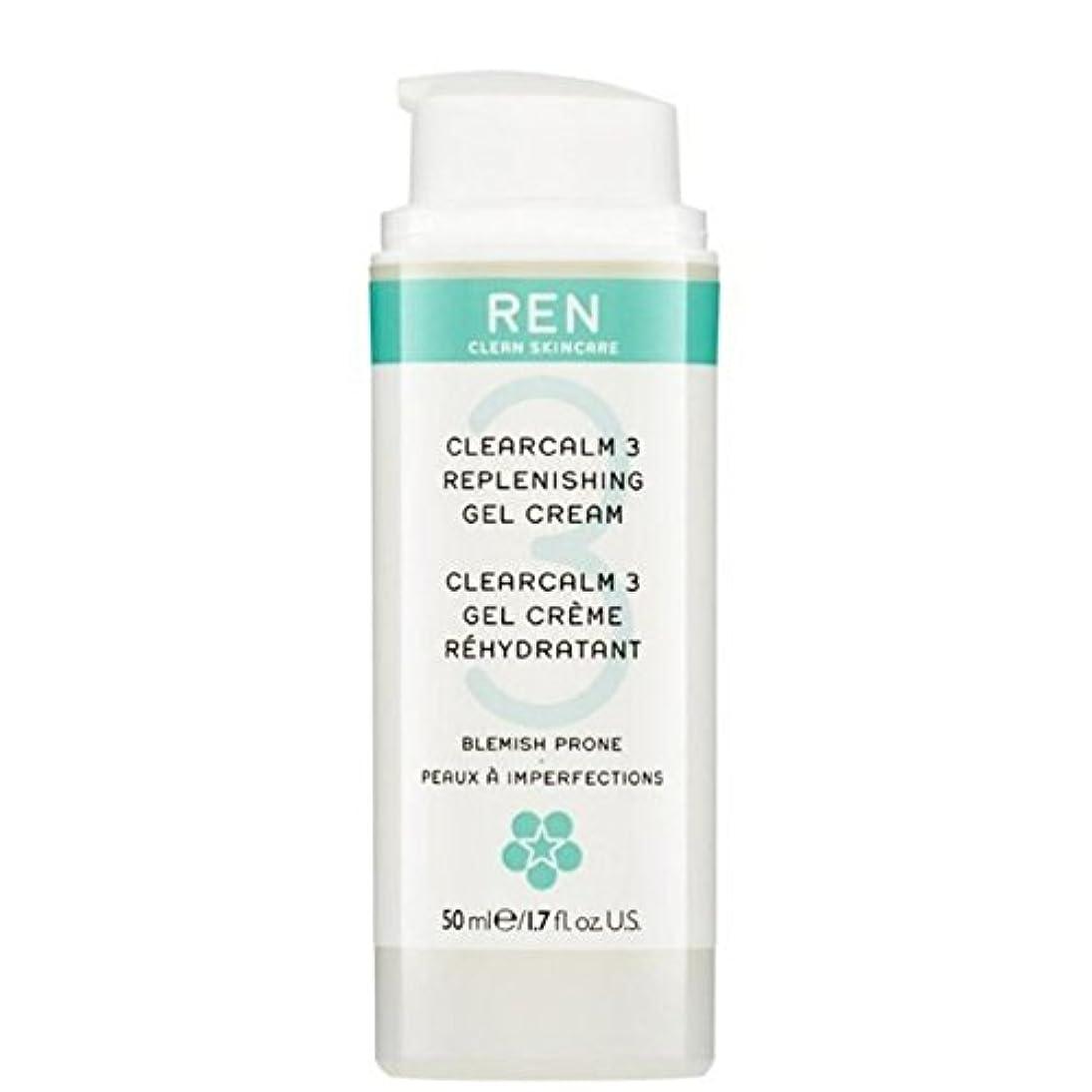 優しさ根拠同一の3補給ゲルクリーム x4 - REN Clearcalm 3 Replenishing Gel Cream (Pack of 4) [並行輸入品]