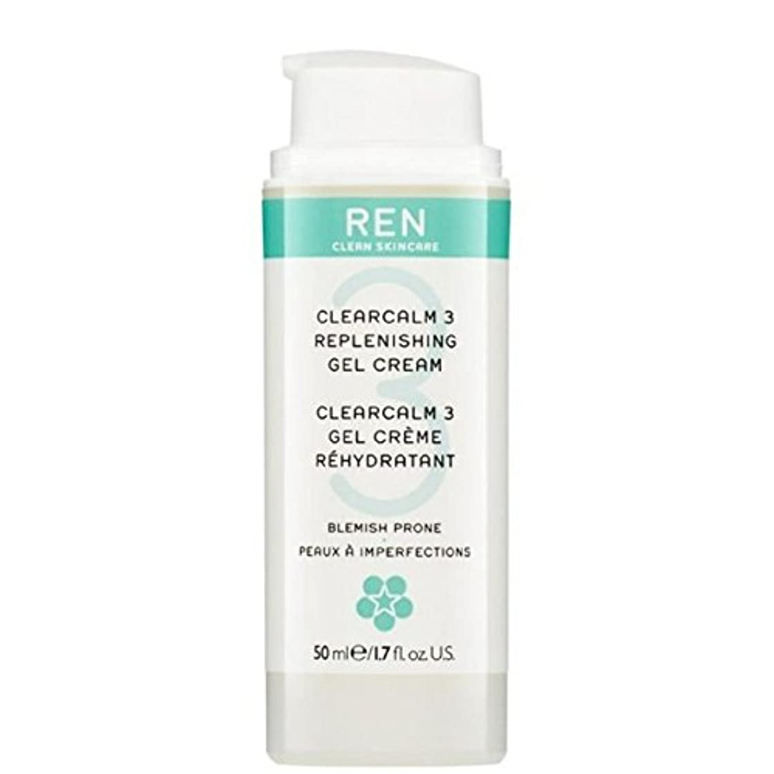 助手彼医薬REN Clearcalm 3 Replenishing Gel Cream - 3補給ゲルクリーム [並行輸入品]