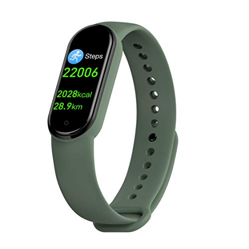 steel.frame.motor Fitness Tracker Heart Rate Monitor Waterproof Full Touch Screen Smart Fitness Band with Step Counter Pedometer Watch for Women Cardio Watch Activity Tracker(Green)