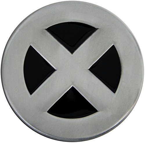 Fun Buckles Unisex-Adult's X-Man Die Cast Pewter Finish Enameled Belt Buckle Silver
