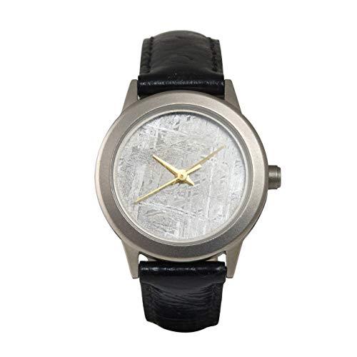 Starborn Gibeon Meteorit Damen Armbanduhr mit 20mm Zifferblatt und schwarzem Lederband