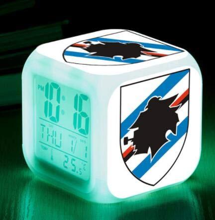 FDGFDG Estadio Football Sign Club LED Reloj Despertador Reloj táctil Iluminado Reloj Despertador Digital Regalo