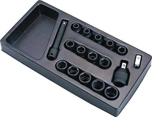Hans 1/2 inch kracht-dopsleutel/slagmoersleutel-moer/steekmoer Satz 9-teilig, 6-kant, 10-24mm