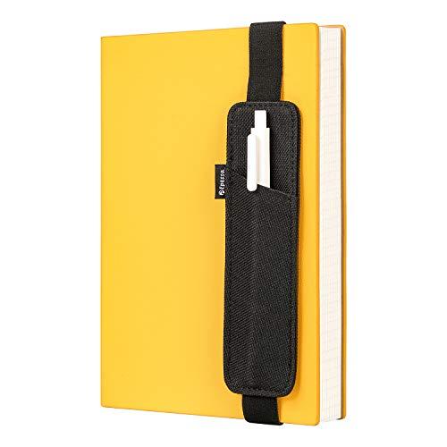 Epessa Buch-Stifthalter, Stiftehalter, Stifteetui für Tagebücher, Notizbücher halten mehrere Stifte, Lineal, abnehmbares Gummiband (klein)