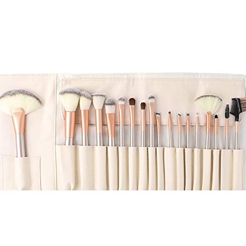 Lot de 18 pinceaux de maquillage professionnels de qualité supérieure avec sac