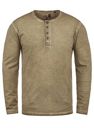 !Solid Timur Herren Longsleeve Langarmshirt Shirt Mit Grandad-Ausschnitt Und Brusttasche Aus 100{4bdaf8aba97283d2da014e567da73fdbb219b03571683cfbdb314c8c113f4f26} Baumwolle, Größe:L, Farbe:Dune (5409)