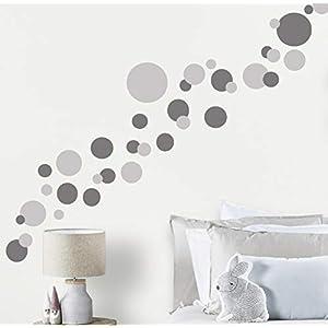 Wall Decor Dots, Polka Dot Wall Decals for Girls Room Walls Decor Stickers Bedroom Kids Art