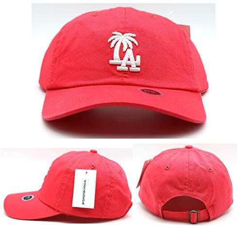 Los Angeles New Leader LA Palm Headlines Women Ladies Clean Up Pink White Era Hat Cap