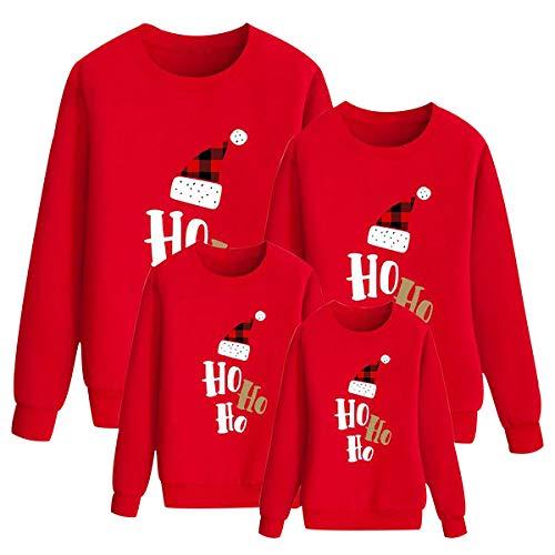 Sudaderas Navideñas Familiares Sudadera Navidad Familia Jersey Navideño Familiar Jerseys Navideños Pullover Jersey Feo Navidad Niño Niña Niños Chica Chico Christmas Jumper Navidad Pareja Rojo 80