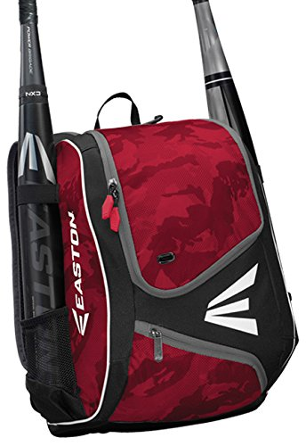 EASTON E110YBP Youth Bat & Equipment Backpack Bag | Baseball Softball | 2020 | Red | 2 Bat Sleeves | Smart Gear Storage | Valuables Pocket | Rubberized Zipper Pulls | Fence Hook