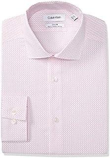 Calvin Klein Men's Dress Shirt Slim Fit Non Iron Stretch Print