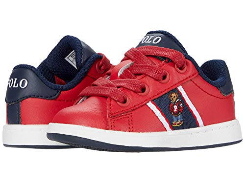 Polo Ralph Lauren Kids Quilton Bear (Toddler) Red Leather/Navy/Red/White/Hoodie Bear 10 Toddler M