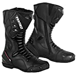 Best Motorcycle Boots - PROFIRST Split Leather Motorcycle Boots Waterproof Motorbike Shoes Review