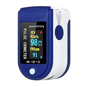 Pulsioxímetro, medidor de saturación de oxígeno de dedo, oxímetro, frecuencia de pulso y valor de SpO2, pantalla LED, para el hogar, fitness y deportes extremos, apagado automático en 8 segundos