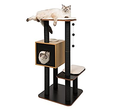 Vesper Cat Tree, High Base, Black , 52046