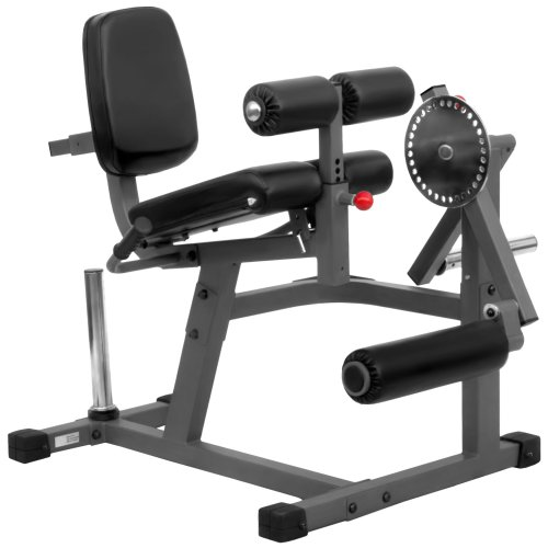 XMark Heavy Duty Adjustable Rotary Leg Extension and Curl Machine Features A 12 Position Adjustable Thigh Pad and 20 Position Adjustable Press Arm