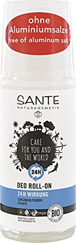 SANTE Naturkosmetik Deo Roll-on 24h Wirkung, Ohne Aluminiumsalze, Langanhaltender Schutz, Vegan, 2x50ml Doppelpack