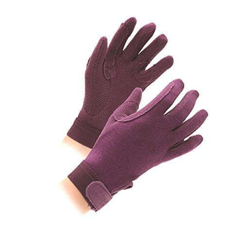 Shires Newbury Childs Kids Cotton Gloves Purple Small