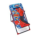 ARDITEX SM9462 - Silla Tumbona Plegable, diseño Spiderman