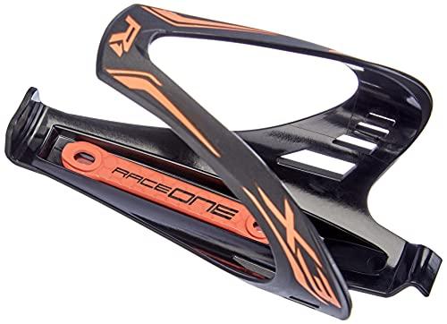 Raceone matt X3 RACE, Portaborraccia per Bicicletta, Ideale per Bici Race, Nero/Arancione (matt BLACK/ORANGE FLUO)