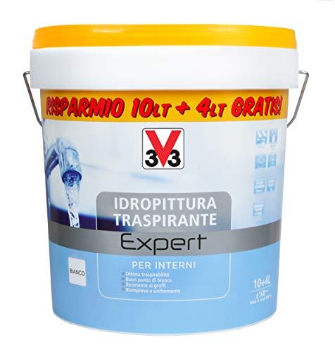 V33 Idropittura Traspirante Expert 10+4 Bianco Opaco 14 l